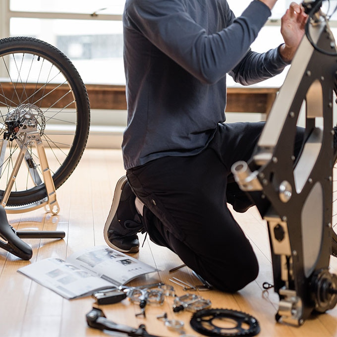 A complete kit includes the tools and instructions you need to assemble the bike.