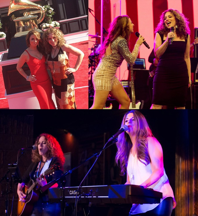 Jenna Paone & Laura B. Whitmore at the GRAMMY's; performing at the She Rocks Awards; live at The Cutting Room NYC