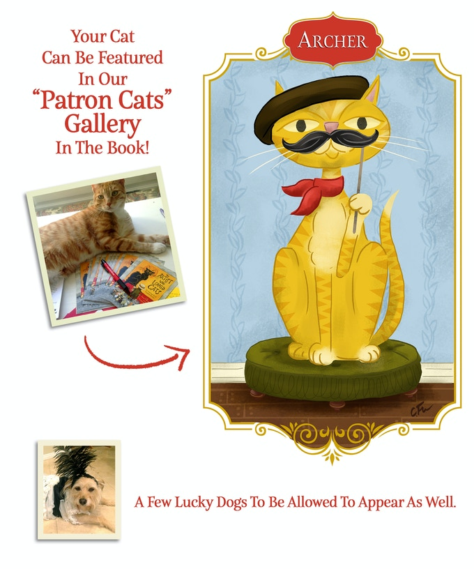 Have your favorite feline immortalized in the book!