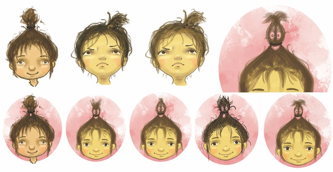 The many faces of Noor Karim and her ponytail.