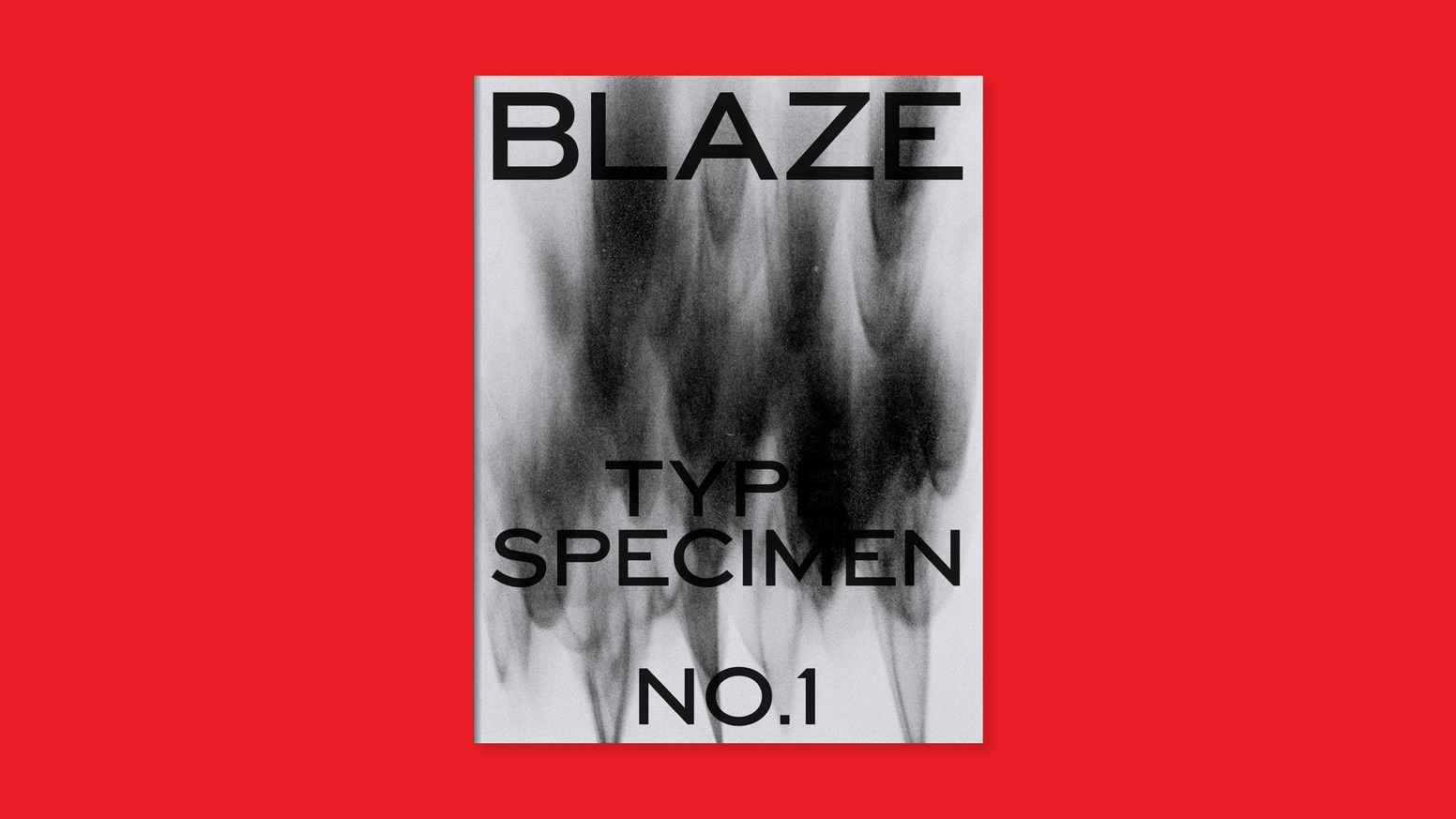 The very first Blaze Type specimen: limited edition booklet-comics like  �