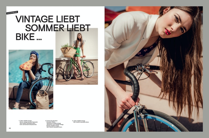 Velo Fashion Magazin designed with Surt by https://atelier-pol.ch/