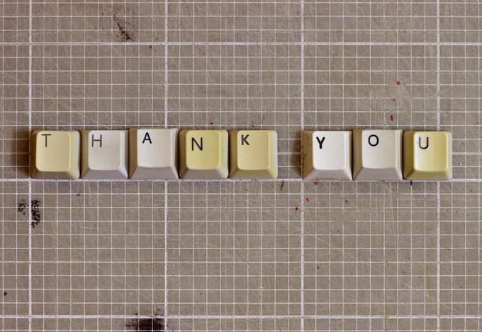 Typographic Postcard #1 THANK YOU (2012)