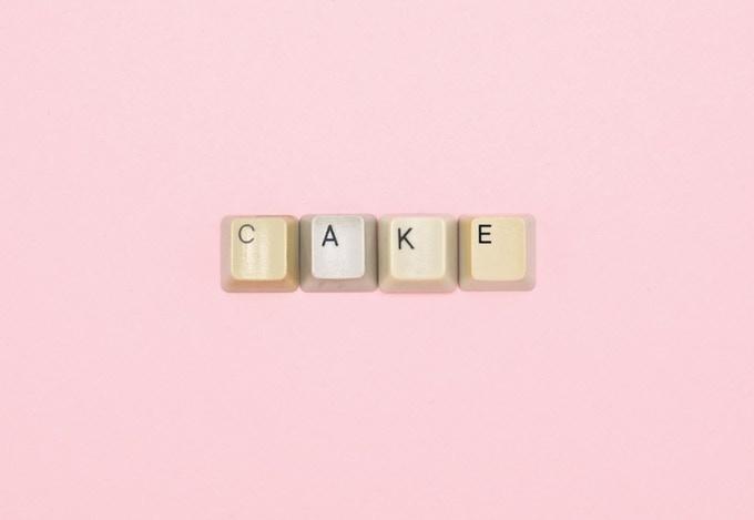 Typographic Postcard #4 CAKE (2014)