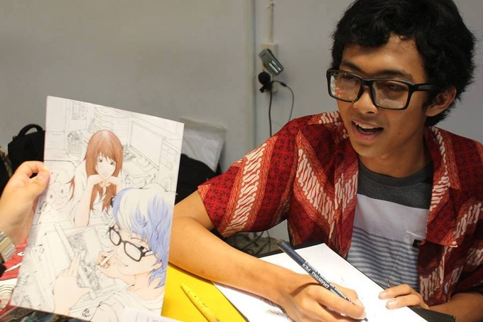 Tom Capung, comic/manga artist from Indonesia (Click to see his Youtube channel!)
