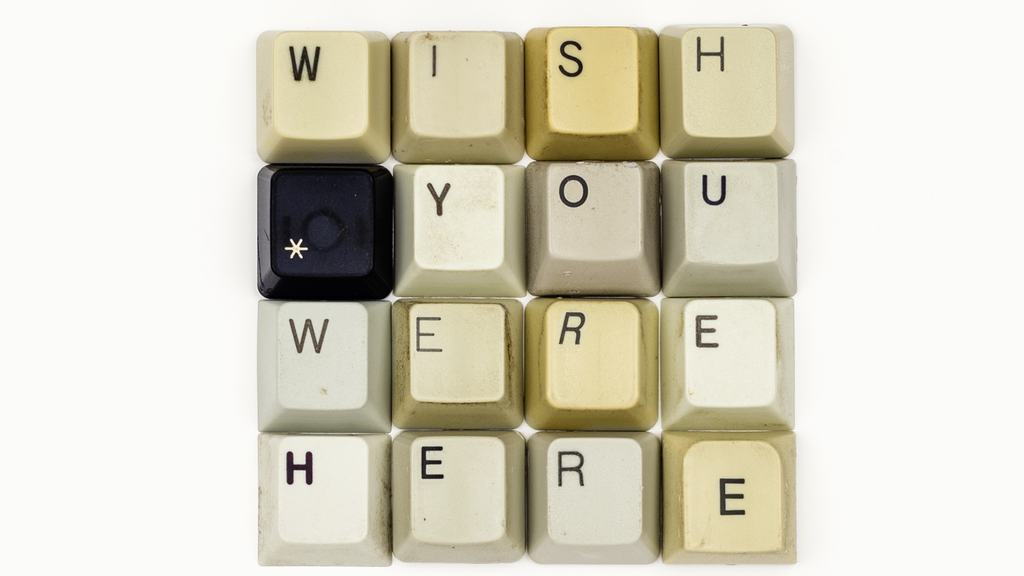 """Typographic Postcard #28 """"WISH YOU WERE HERE"""" project video thumbnail"""