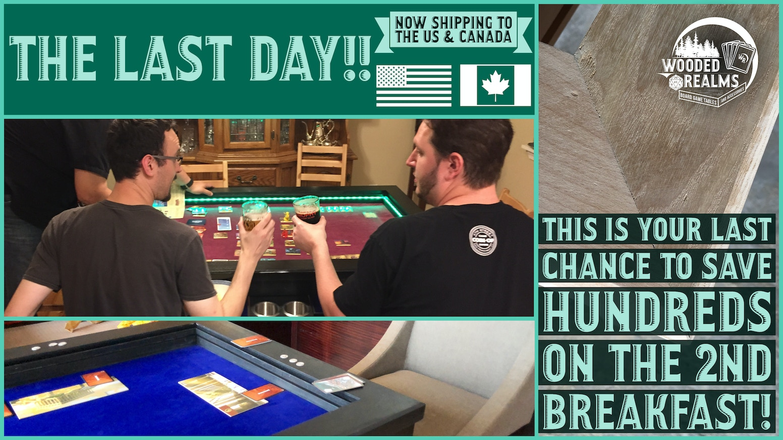2nd Breakfast: An Affordable, Quality Board Game Table by