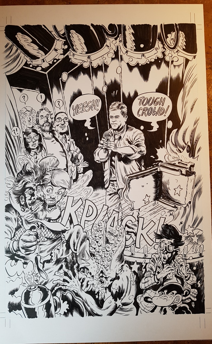 Starburns Presents #1 original cover art by Troy Nixey