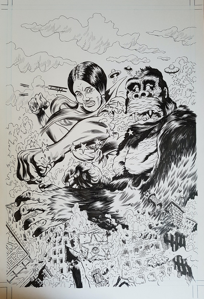 Comics Comics #1 cover art by Troy Nixey