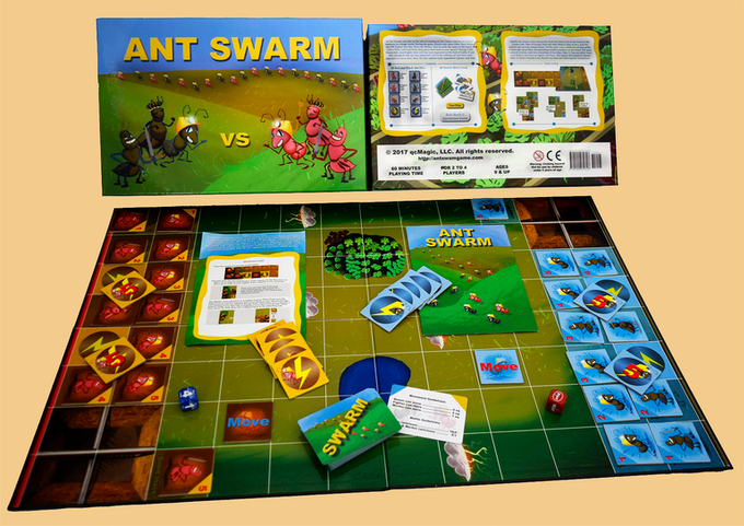 Ant Swarm Board Game (Large)  with custom made dice