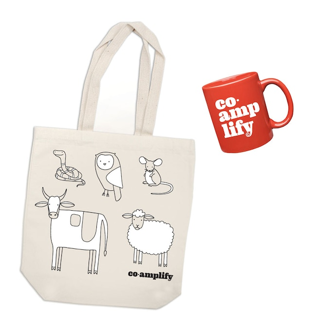Tote Bags & Mugs — just like public radio!