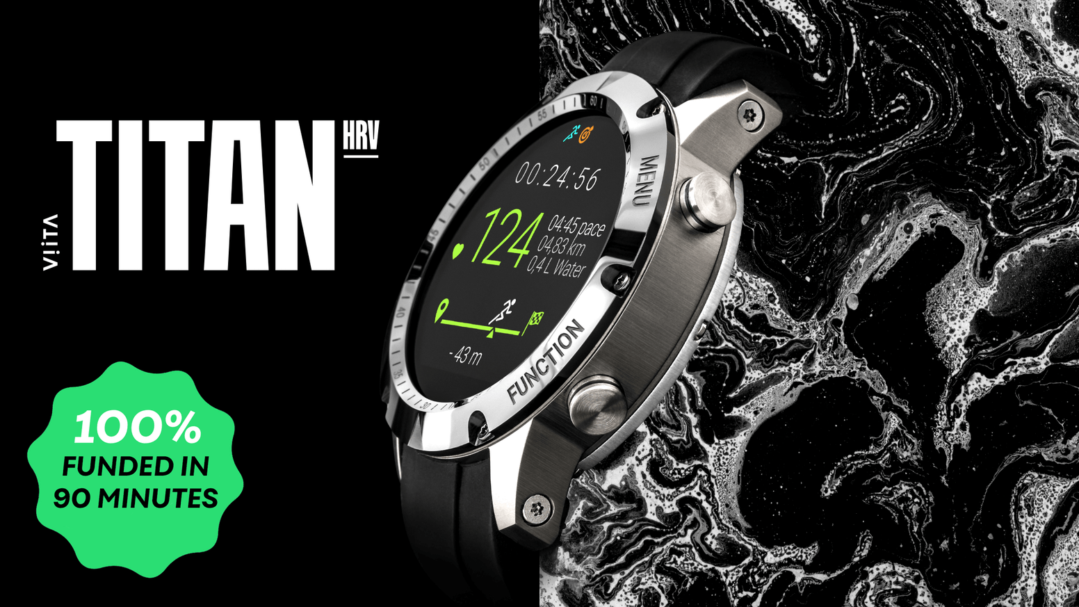 Titanium, ceramic, sapphire glass – All materials which you would want for a REAL luxury smartwatch.