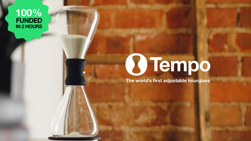 Tempo: The world's first adjustable hourglass timepiece ⏳ project video thumbnail