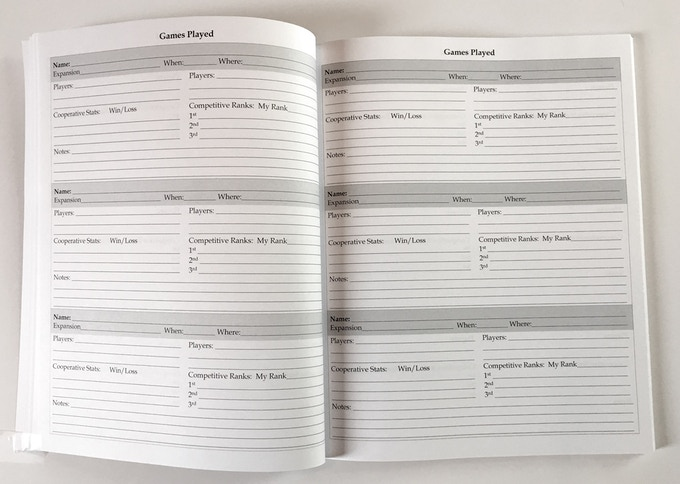 150 Page Journal - Games Played Pages