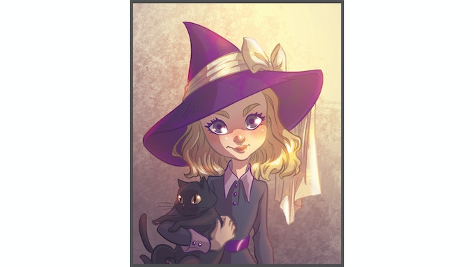 Amy Moonstone, born Mikail Moonstone, witch in training