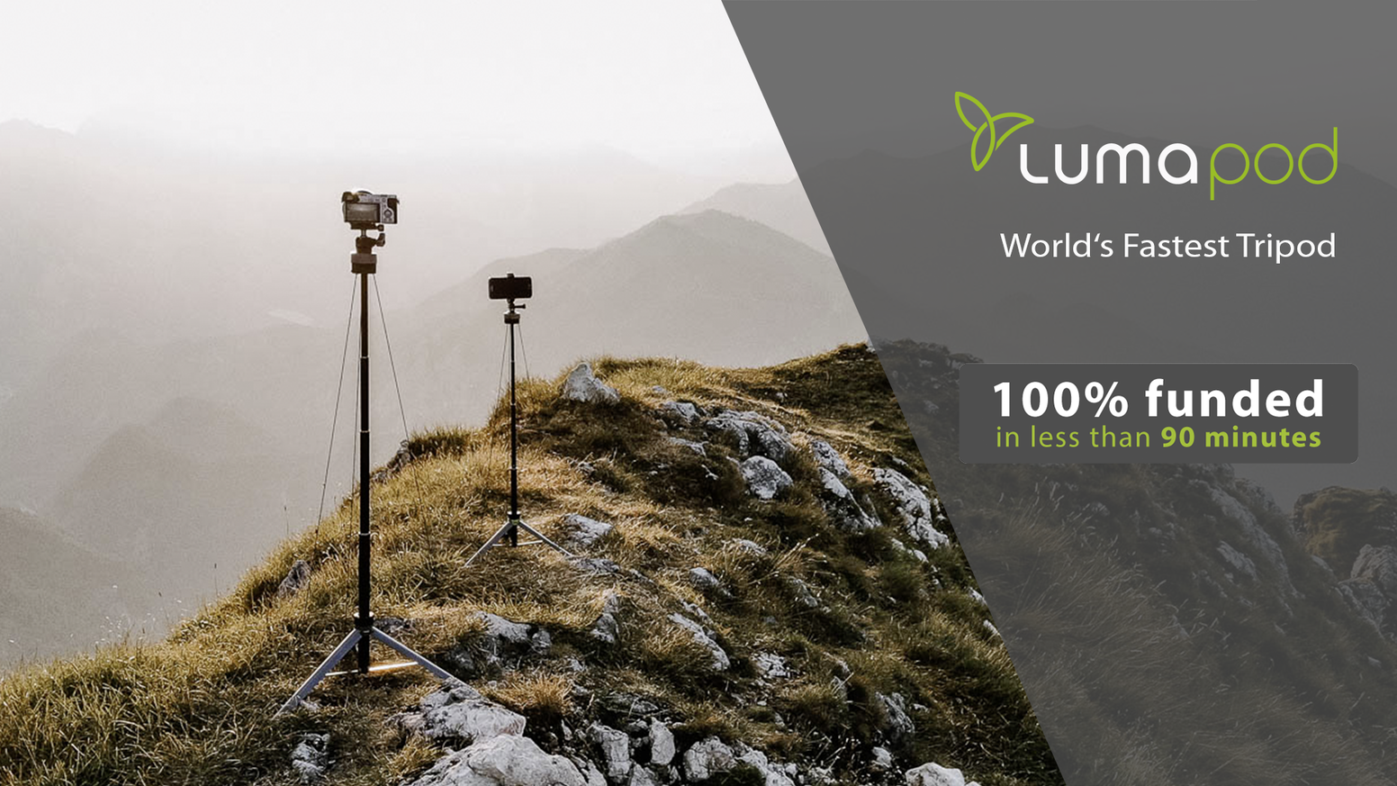 An ultra-compact and lightning fast tripod solution for those who enjoy exploring freely.