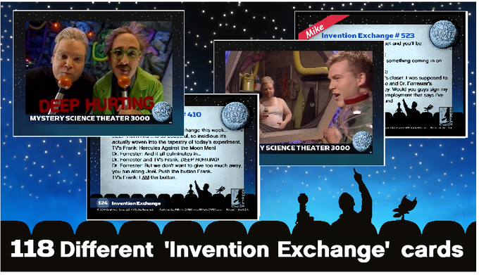 Sample INVENTION EXCHANGE cards
