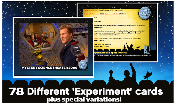Examples of EXPERIMENT cards ... look for scarce VARIATIONS CARDS!