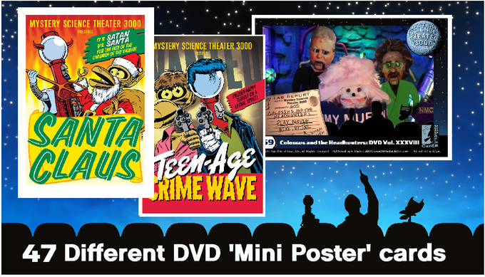 Examples of the Steve Vance Mini Poster Art Cards (with Shout! Factory DVD menu graphics on the backs)