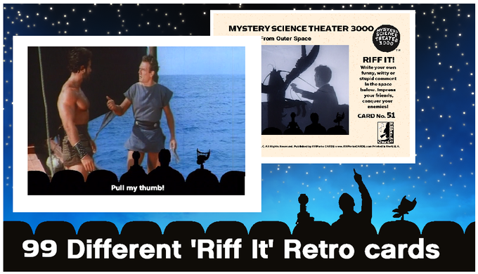 Examples of RIFF IT Cards ... 11 different 9 card sets covering 11 different MST3K-featured movies