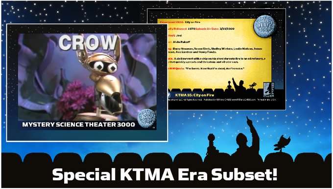 An example of the 22 different KTMA era MST3K cards