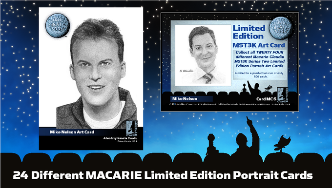 1 of 24 different Macarie Limited Edition Portrait Cards