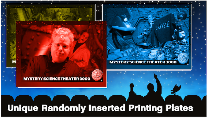 Examples of genuine printing plates to seek and find in packs of MST3K Trading Cards Series Two