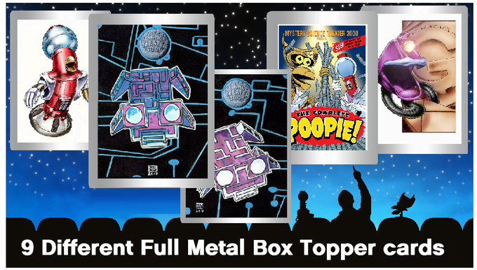 5 of 9 different Metal Box Topper cards to collect