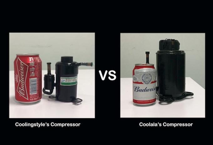 Coolingstyle's Compressor VS Other Brand's Compressor