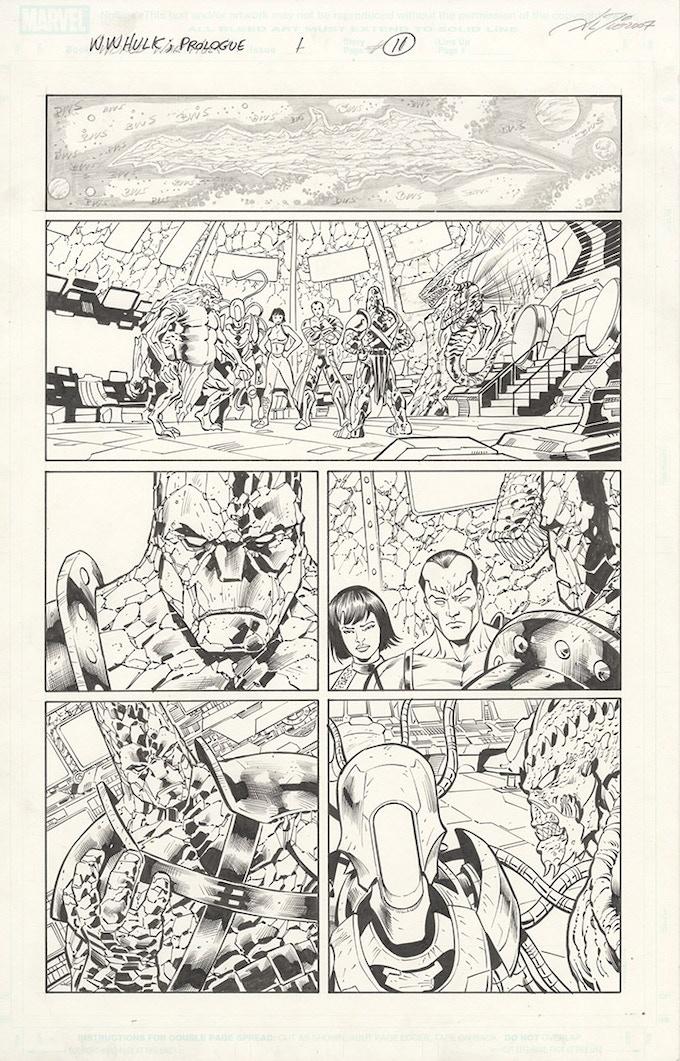 World War Hulk page by Al Rio