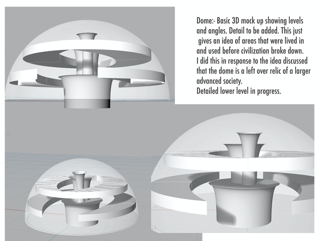 concept design for the dome, by Amanda Fullwood