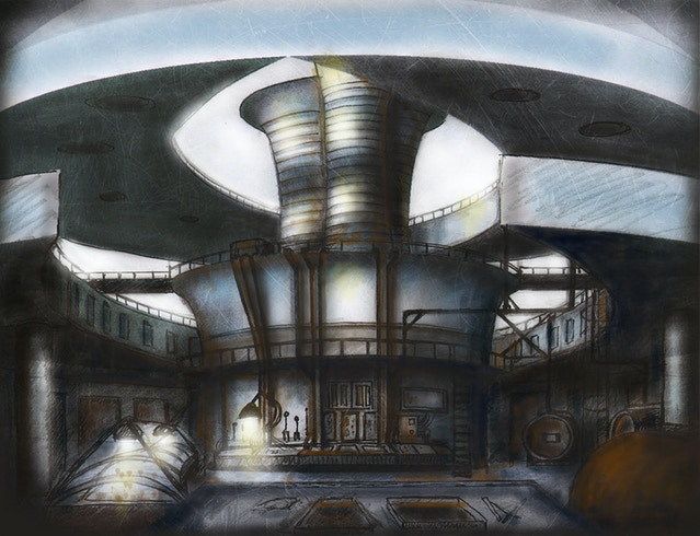 concept art for the dome by Amanda Fullwood