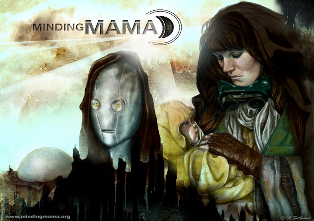 the official 'Minding Mama' poster by Amanda Fullwood