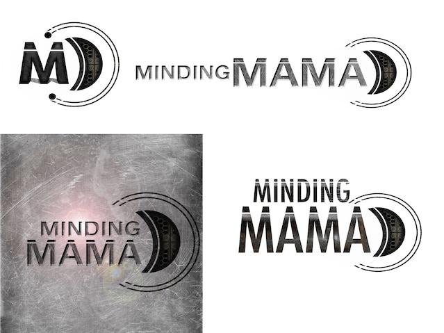 'Minding Mama' logo variants by Amanda Fullwood