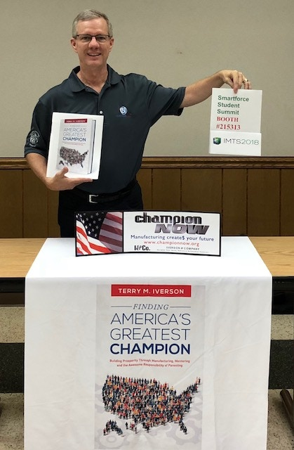 Come see Finding America's Greatest Champion at IMTS2018 Student Summit-Booth 215313