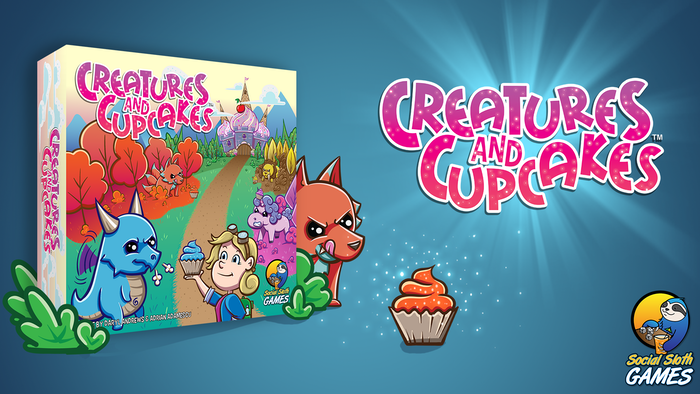 "An easy to learn game, with a bit of ""take that"" chaos, about training your creatures by feeding them cupcakes."