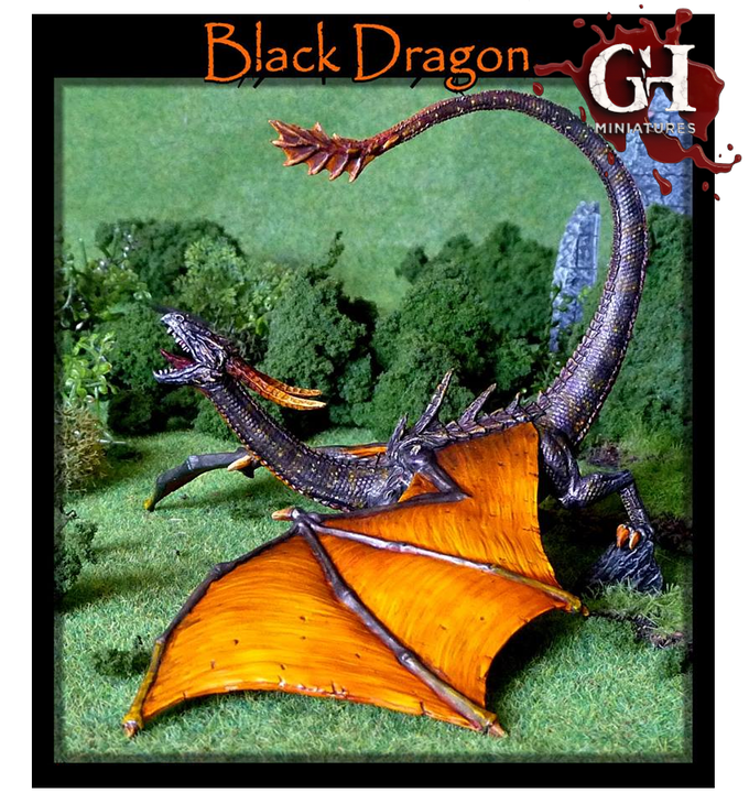 Borranix, The Black Dragon, Sculpted by Gary Hunt!