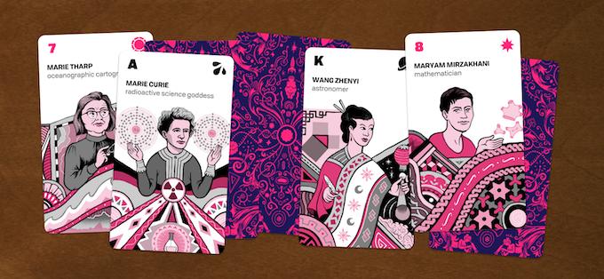 Example minor arcana cards
