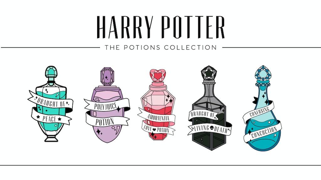 Harry Potter Potions Enamel Pins By Sierra Fore Kickstarter