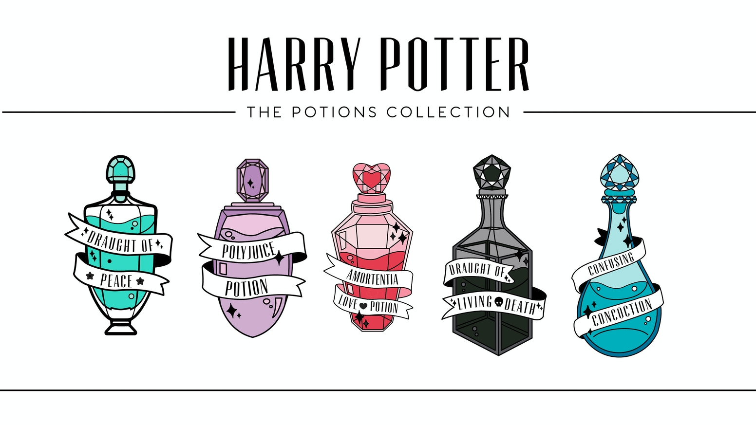 Harry Potter Potions Enamel Pins By Sierra Fore Kickstarter