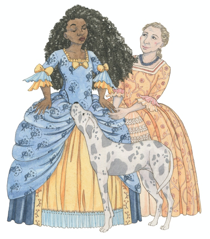 illustration from 'The Princess and the Pea'