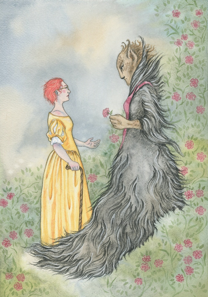 illustration from 'Beauty and the Beast'