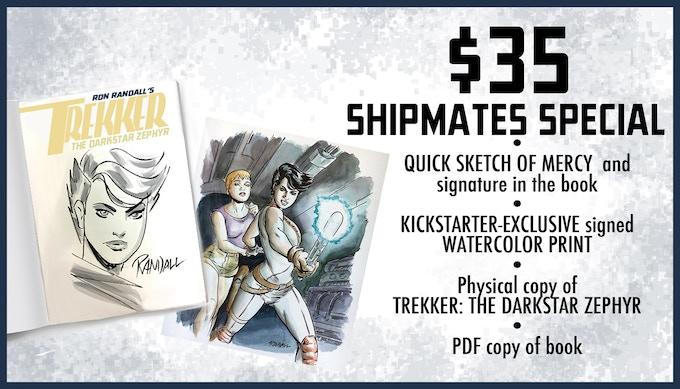 TREKKER: THE DARKSTAR ZEPHYR OGN by Ron Randall — Kickstarter