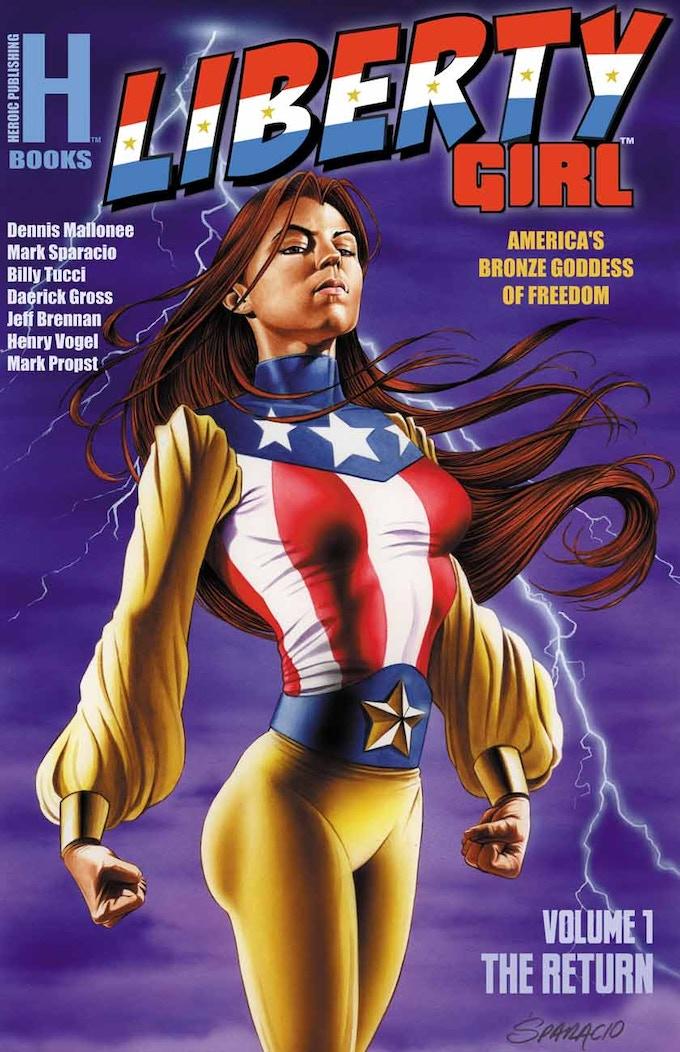 Mark Sparacio's Cover for the Liberty Girl Trade Paperback