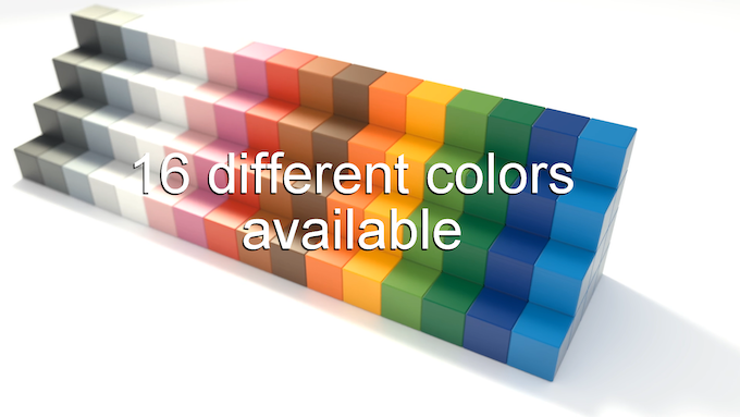 16 different colors available.
