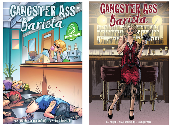 Our KICKSTARTER EXCLUSIVE VARIANT by Elisa Romboli (colors by Walter Pereyra) and our BOOTLEGGER VARIANT by Daniel Cooney (colors by Lisa D. Gonzales)