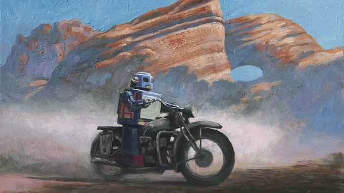 Concept Art - American Southwest searching for donuts