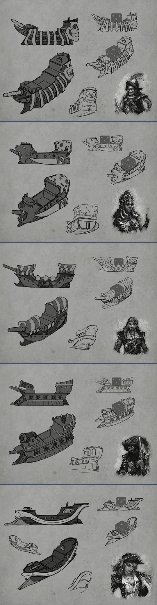 Concept Art for the Custom Ship Minis