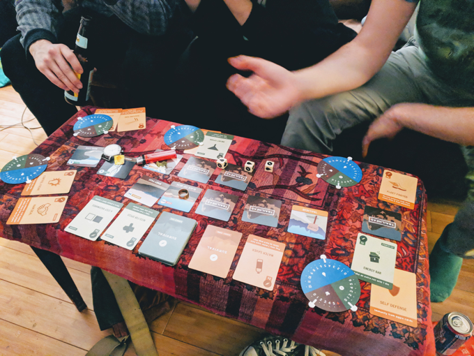 Play Testers taking a 1st Edition prototype for a spin.