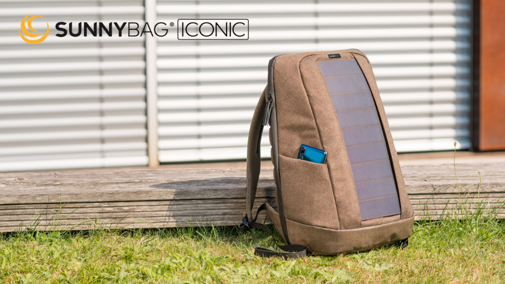 SUNNYBAG® ICONIC: best solar backpack with wireless charging project video thumbnail